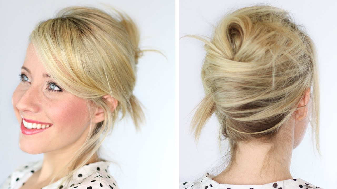 Messy French Twist - YouTube