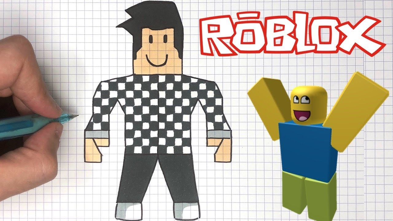 Comment Dessiner Roblox Facilement Youtube