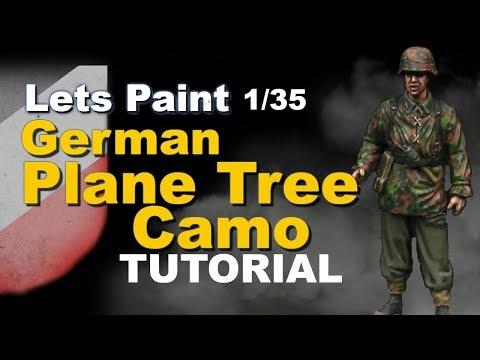 Lets Paint: German 1/35 Plane Tree / Oak Leaf Camouflage painting tutorial
