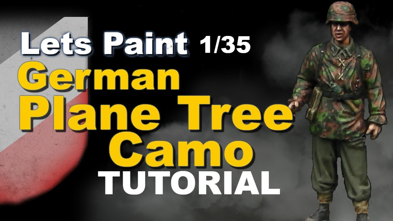 Lets Paint: German 1/35 Plane Tree / Oak Leaf Camouflage painting tutorial