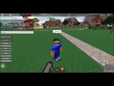 ROBLOX skateboard glitch :D
