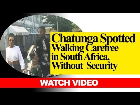 Chatunga Mugabe Spotted Walking Carefree in South Africa with no Security