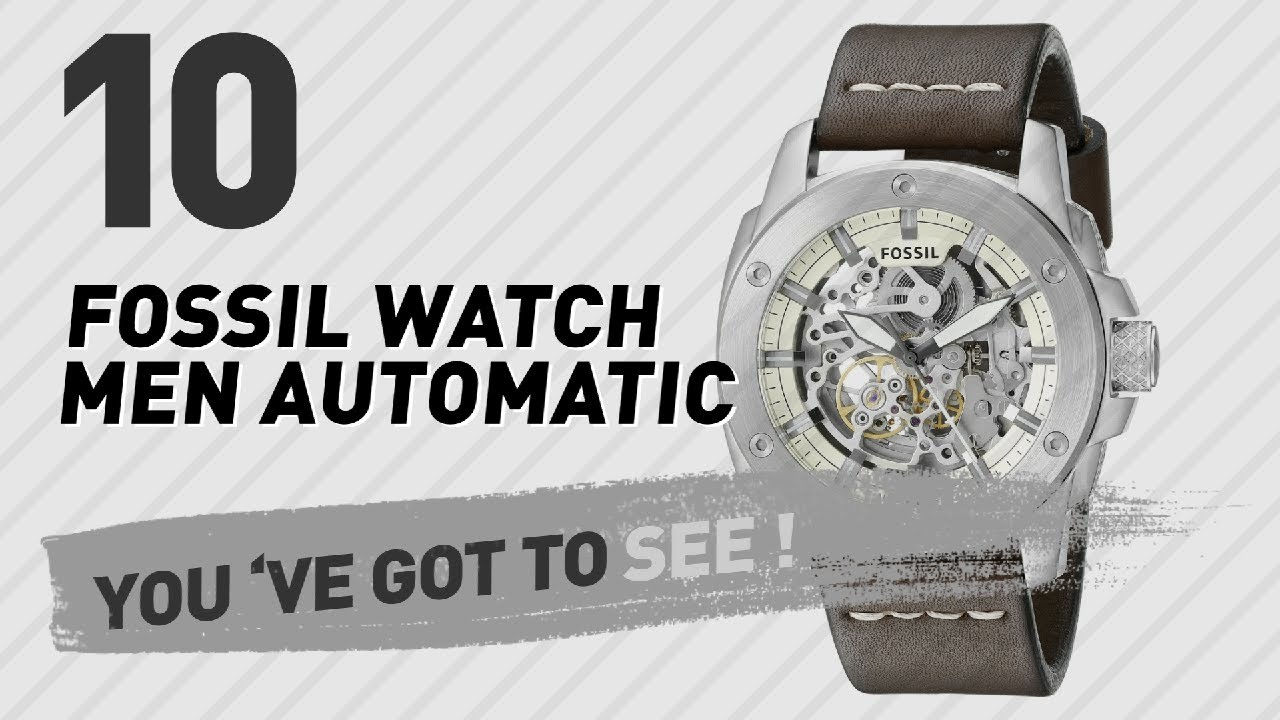 3745cdba6 Top 10 Fossil Watch Men Automatic // New & Popular 2017 - YouTube