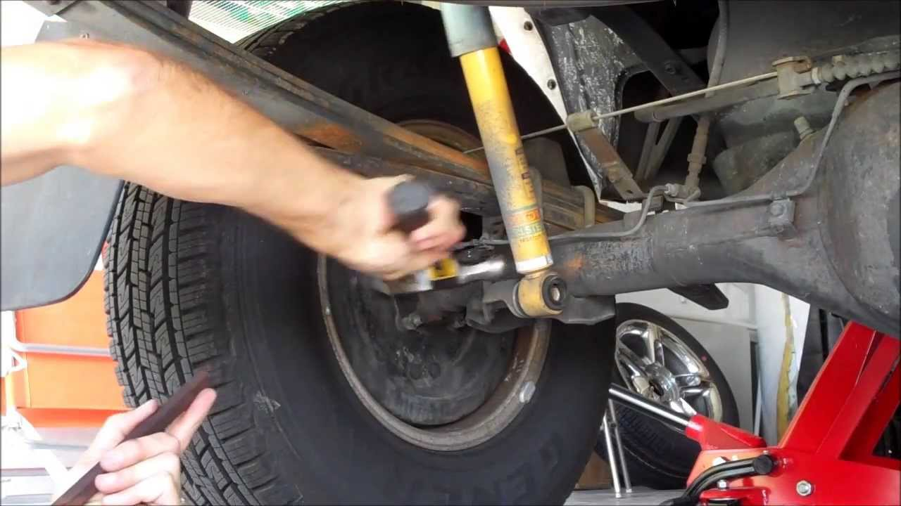 99 Tacoma Rear Shock Replacement Youtube