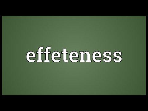 Header of effeteness