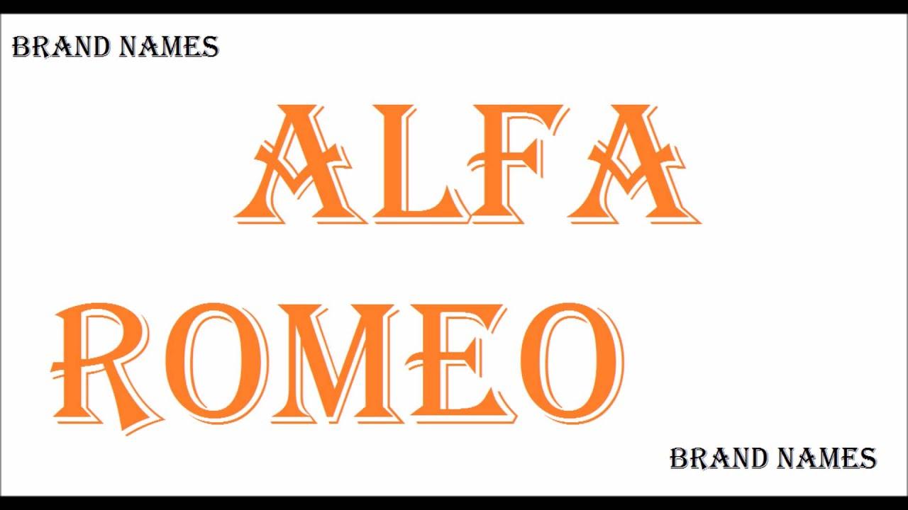 how to pronounce alfa romeo - car brands - youtube