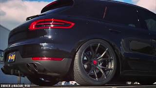LOUDEST Porsche Macan S w/ ARMYTRIX Exhaust / Accuair Bagged / Vorsteiner Wheels