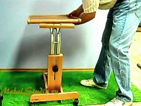 Прикроватная тумбочка со встроенным столиком NATI 85 - YouTube