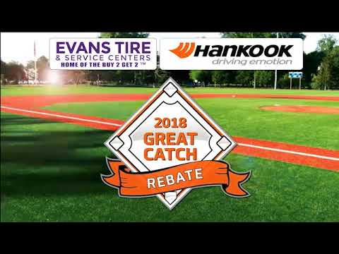Evans Tire & Service Centers - Hankook Great Catch Rebate! 30