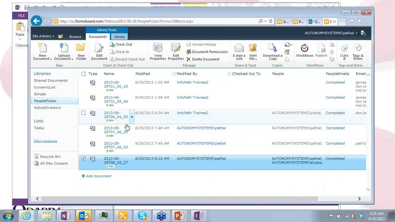 InfoPath Tutorial - Adding Email Recipients to Forms - August 29, 2013 Webinar InfoPath 2013