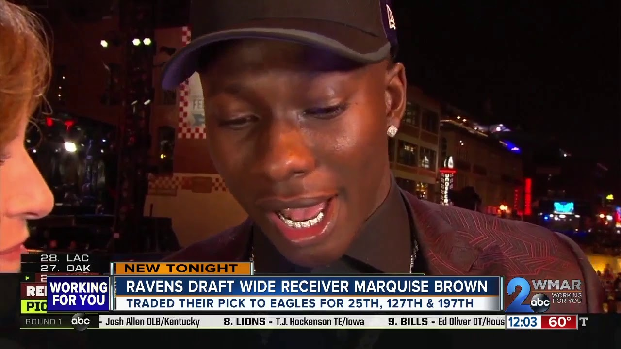 Ravens rookie Marquise Brown scores 2 touchdowns on first 2 NFL catches