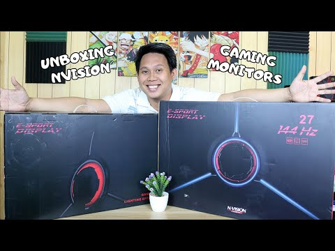 NVISION GT24R18 And GT27R18 Gaming Monitor - TAGALOG Unboxing EP#1