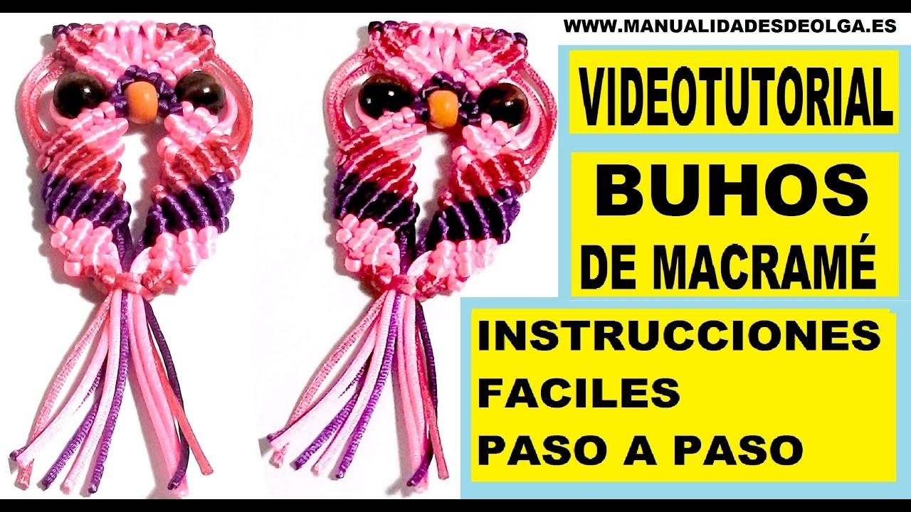 COMO HACER UN BUHO DE HILO CON NUDOS DE MACRAME TUTORIAL DIY