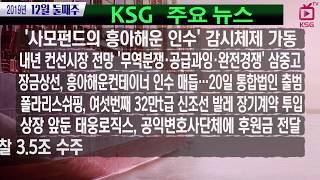 '사모펀드의 흥아해운 인수' 감시체제 가동 / KSG …