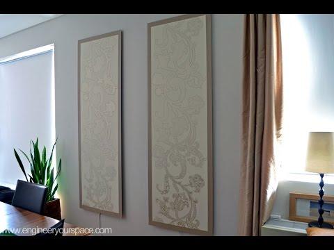видео: Декоративные стеновые панели своими руками / dekorative wandpaneele