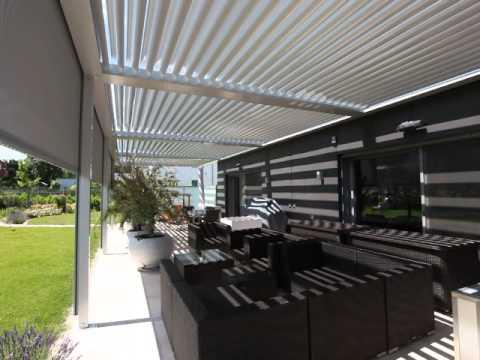 lamellendach terrassendach von innen youtube. Black Bedroom Furniture Sets. Home Design Ideas