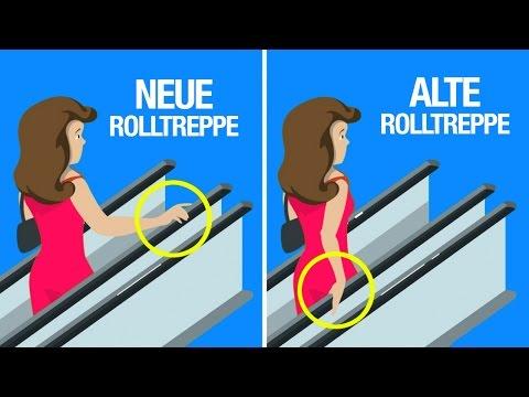 Warum der Handlauf einer Rolltreppe schneller ist