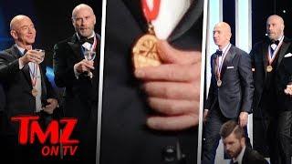 John Travolta & Jeff Bezos Are A Couple Of Bald Studs! | TMZ TV