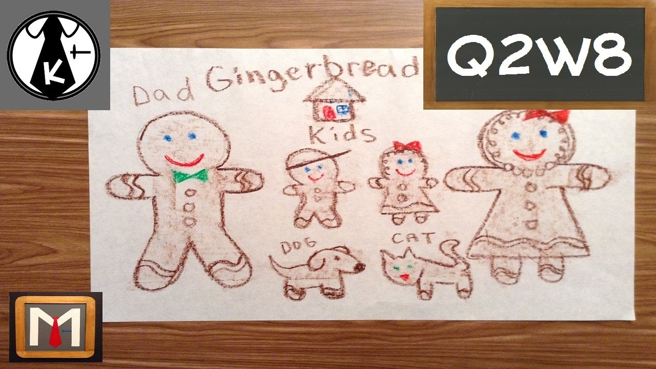 How to Draw a Gingerbread Family - YouTube