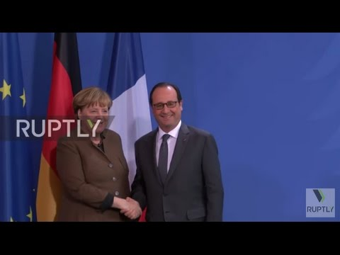 Germany: 'Necessary' to prolong sanctions against Russia, say Merkel and Hollande