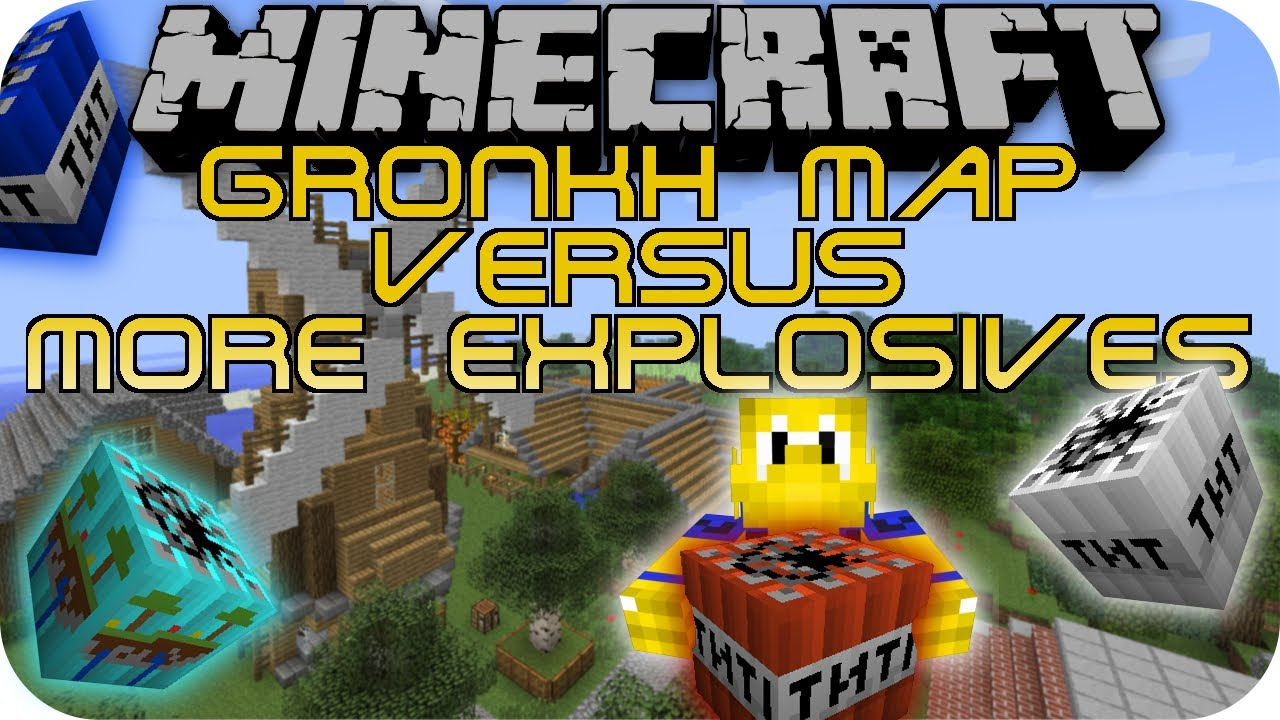 GRONKH MAP VS MORE EXPLOSIVES Minecraft Mod Battle YouTube - Minecraft hauser gronkh