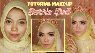 Tutorial makeup BARBIE DOLL | Rindynellakrisna