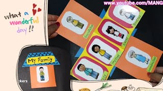best tlm E.v.s. tlm and english tlm to teach My family lesson, tlm for primary classes