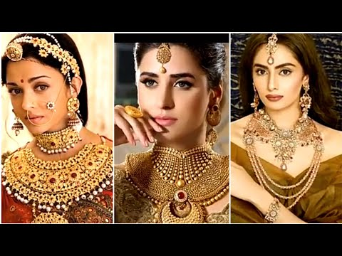 Latest Indian bride jewelry and makeup 2018|