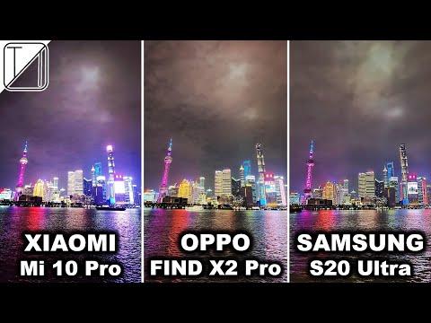 Oppo Find X2 Pro vs Xiaomi Mi 10 Pro vs Samsung S20 Ultra Camera Test Comparison