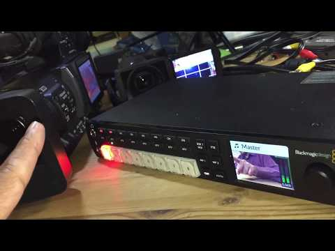 ATEM Television Studio HD Setup Test with 2 Cameras, OBS and Utility Software from BlackMagic Design