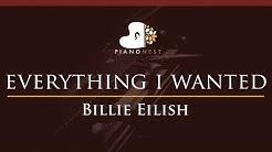 Billie Eilish - everything i wanted - HIGHER Key (Piano Karaoke Instrumental)