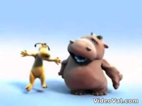 dancing hippo and dog