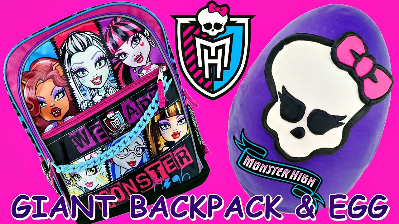 Monster High Giant Play Doh Surprise Egg And Backpack Book Bag