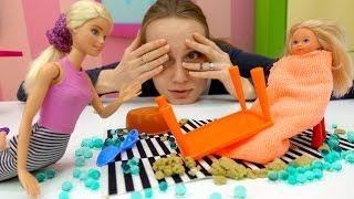 Барби и Штеффи. Видео для девочек: няня для Штеффи