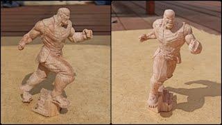 Обработка статуэтки Таноса на станке с ЧПУ. Станок от \
