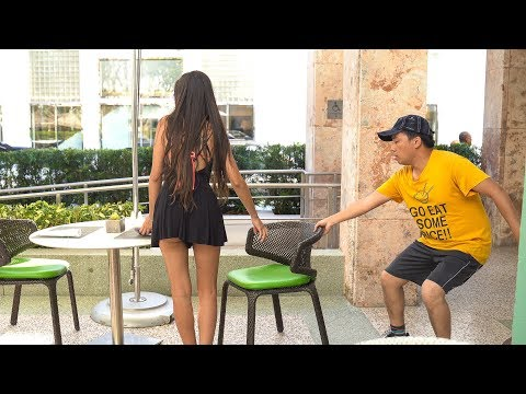 Chair Pulling Prank in Miami!!!