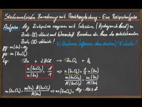 09 Stöchiometrische Berechnungen - Beispielaufgabe - YouTube