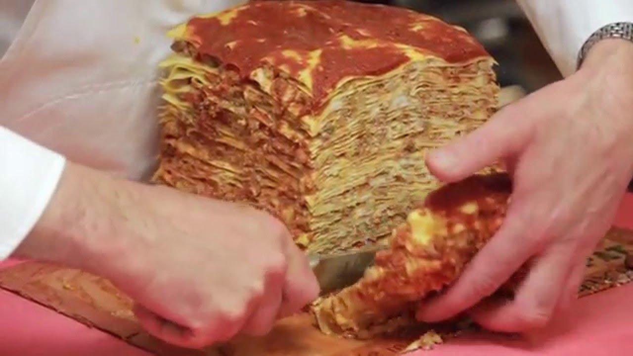 Mario Batali >> Mark Ladner Makes 100 Layer Lasagna - Hanging with Harris ...