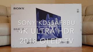 SONY BRAVIA KD55AF88 (OLED TV) - Unboxing & First Impressions