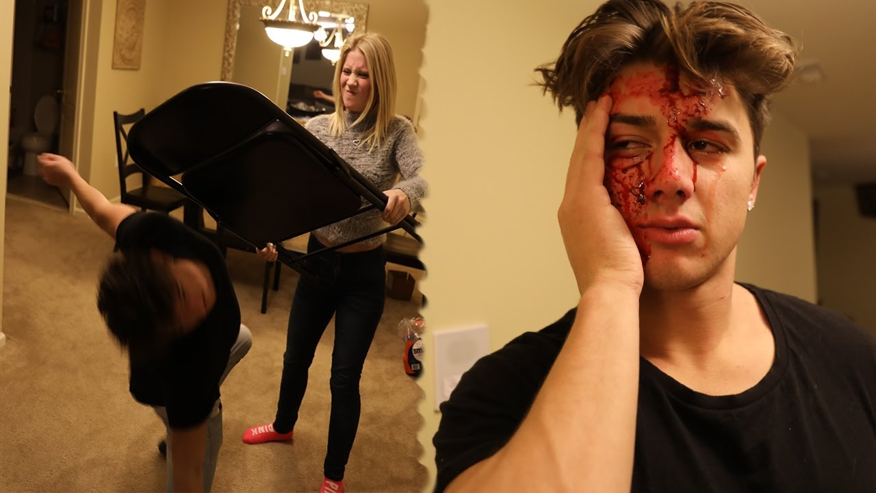 She Cracked His Head Open With A Chair Youtube