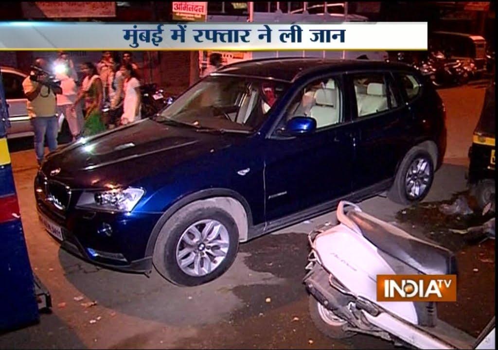 Speeding Bmw Car Hits Bike In Powai Area Of Mumbai India Tv Youtube