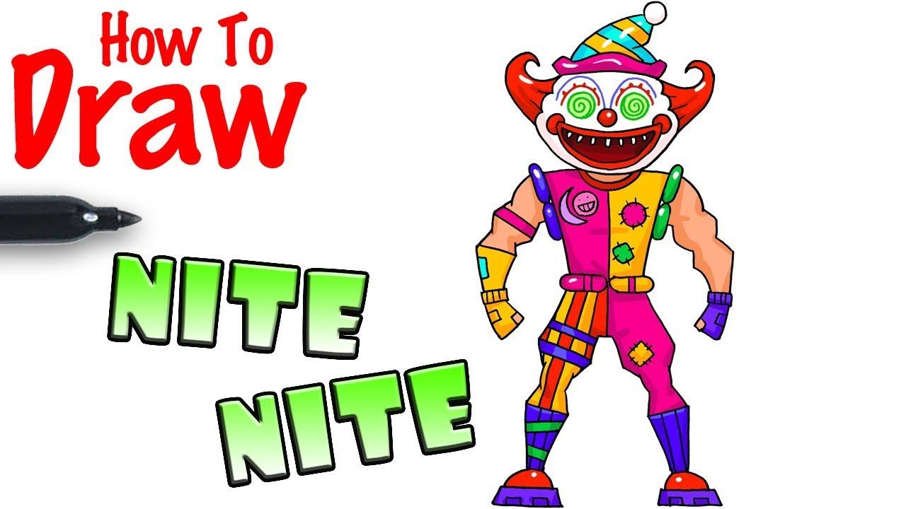 How To Draw Nite Nite Fortnite Youtubedownload Pro