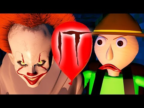PENNYWISE IT vs NEW BALDI'S BASICS CHALLENGE! (official) Baldi Minecraft Animation Horror Game