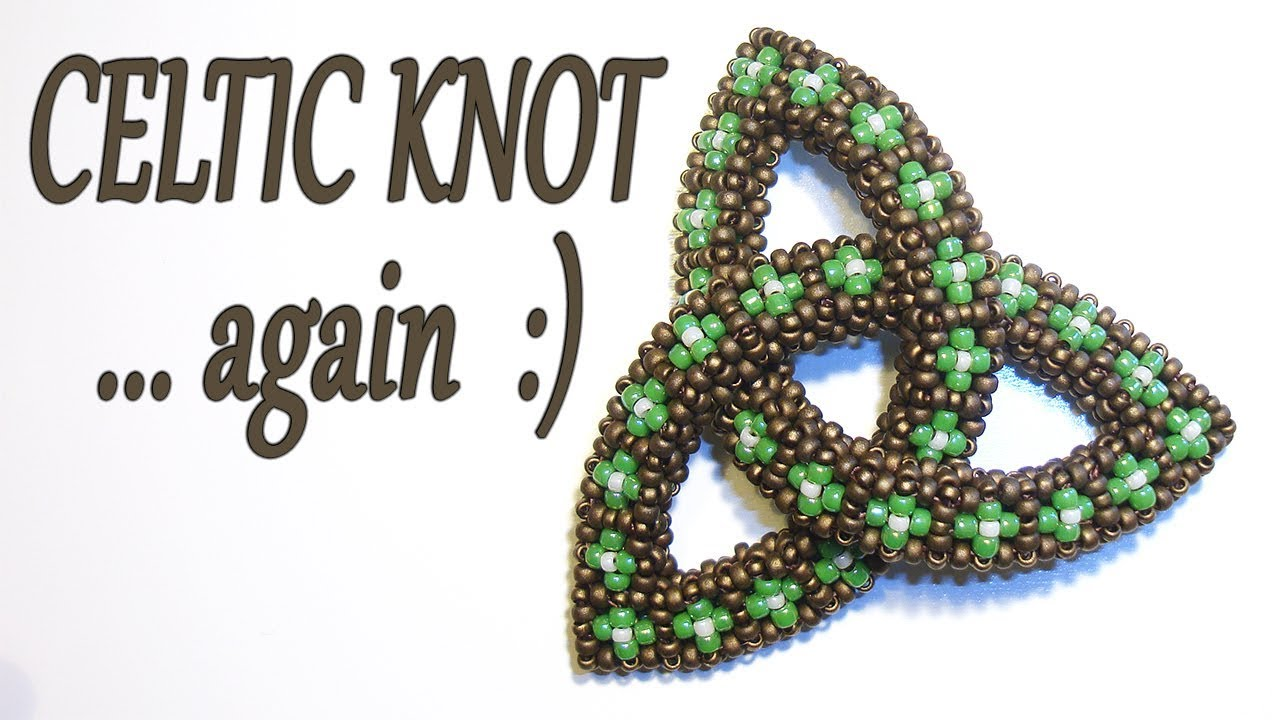 Cubic RAW Celtic Knot - Bead Celtic Knot with Cubic Right Angle ...