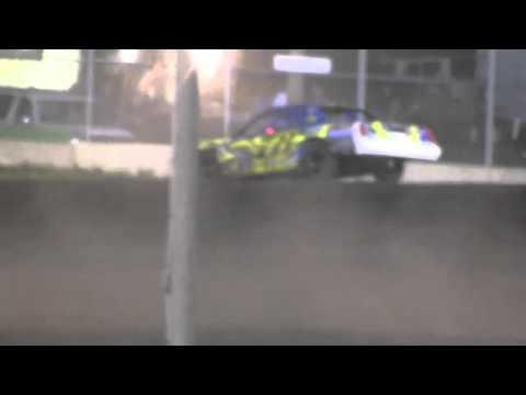 6-22-13 #78xx Turn 2 wreck @ Boone Speedway