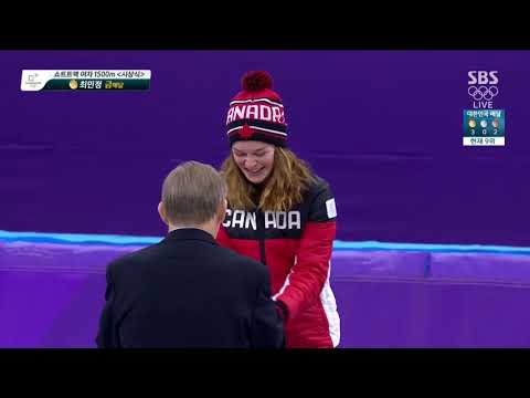 SBS [평창올림픽] 쇼트트랙 여자 1500m 시상식 (최민정 금메달)