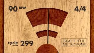 90 BPM 4/4 Wood Metronome HD