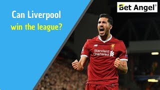 Betfair football trading - Using form lines  - Can Liverpool FC the league title?