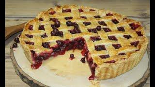 Ягодный пирог из черной смородины рецепт / Blackcurrant pie recipe