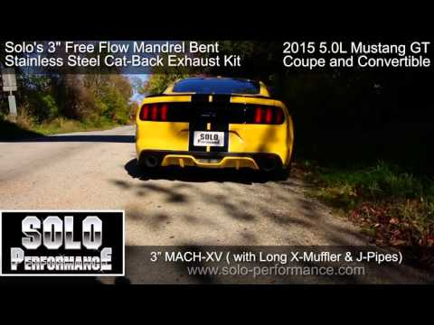 FORD 5.0L MUSTANG GT (2015-PRESENT) SOLO PERFORMANCE MACH-XV CAT BACK 3